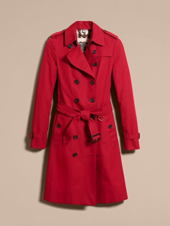 Parade red The Sandringham  – Long Heritage Trench Coat Parade Red - cell image 3