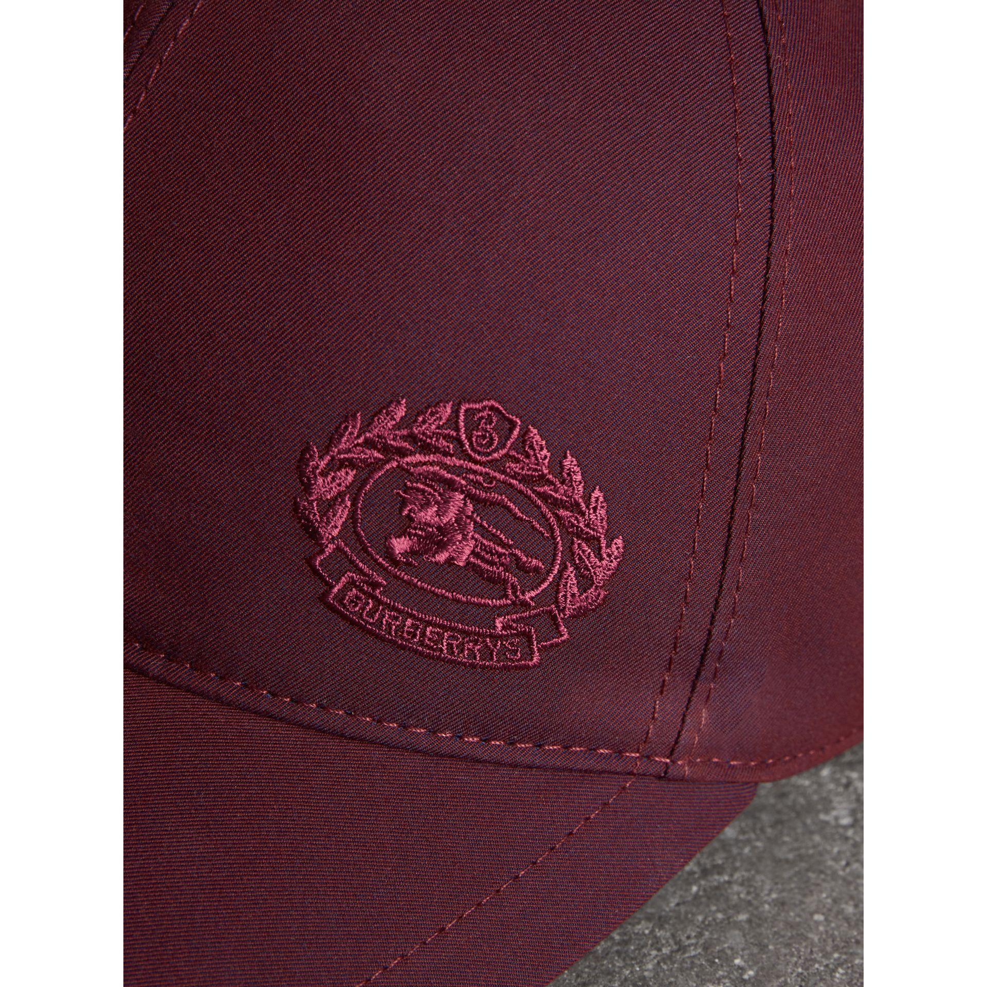 Archive Logo Baseball Cap in Boysenberry | Burberry Hong Kong - gallery image 1