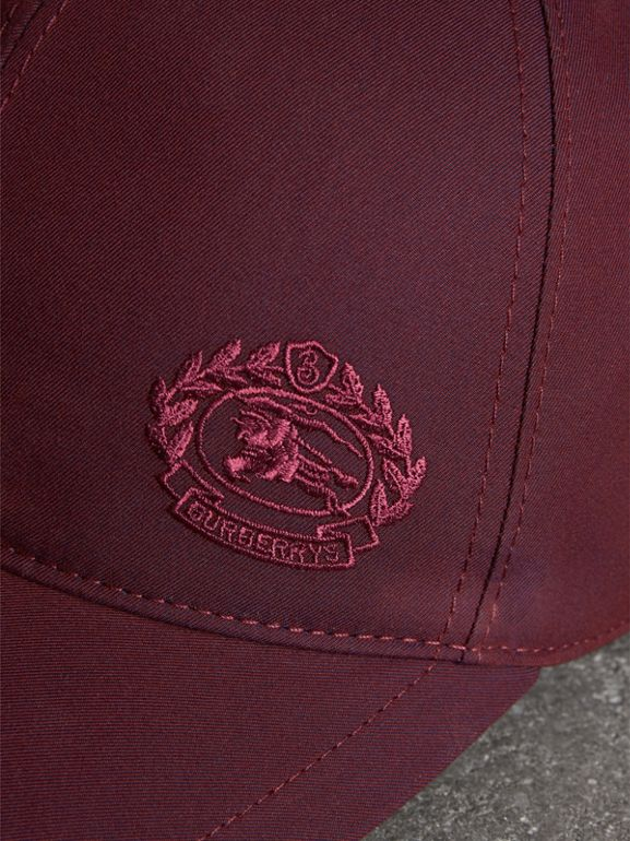 Archive Logo Baseball Cap in Boysenberry | Burberry United States - cell image 1