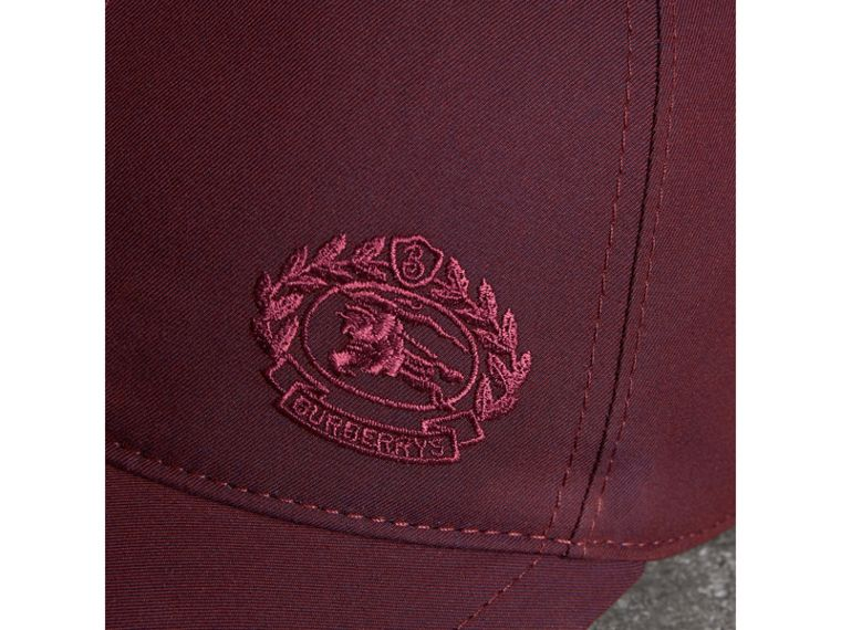 Archive Logo Baseball Cap in Boysenberry | Burberry Hong Kong - cell image 1