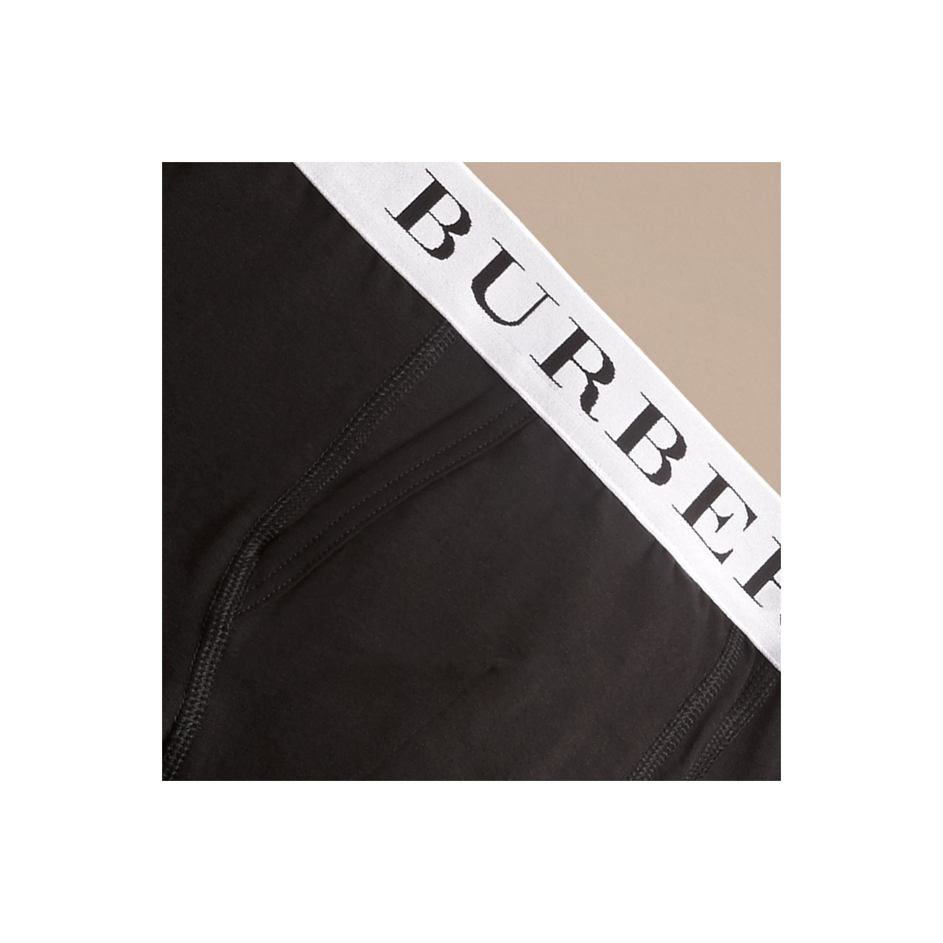 Stretch Cotton Boxer Shorts in Black - Men | Burberry Australia - gallery image 1