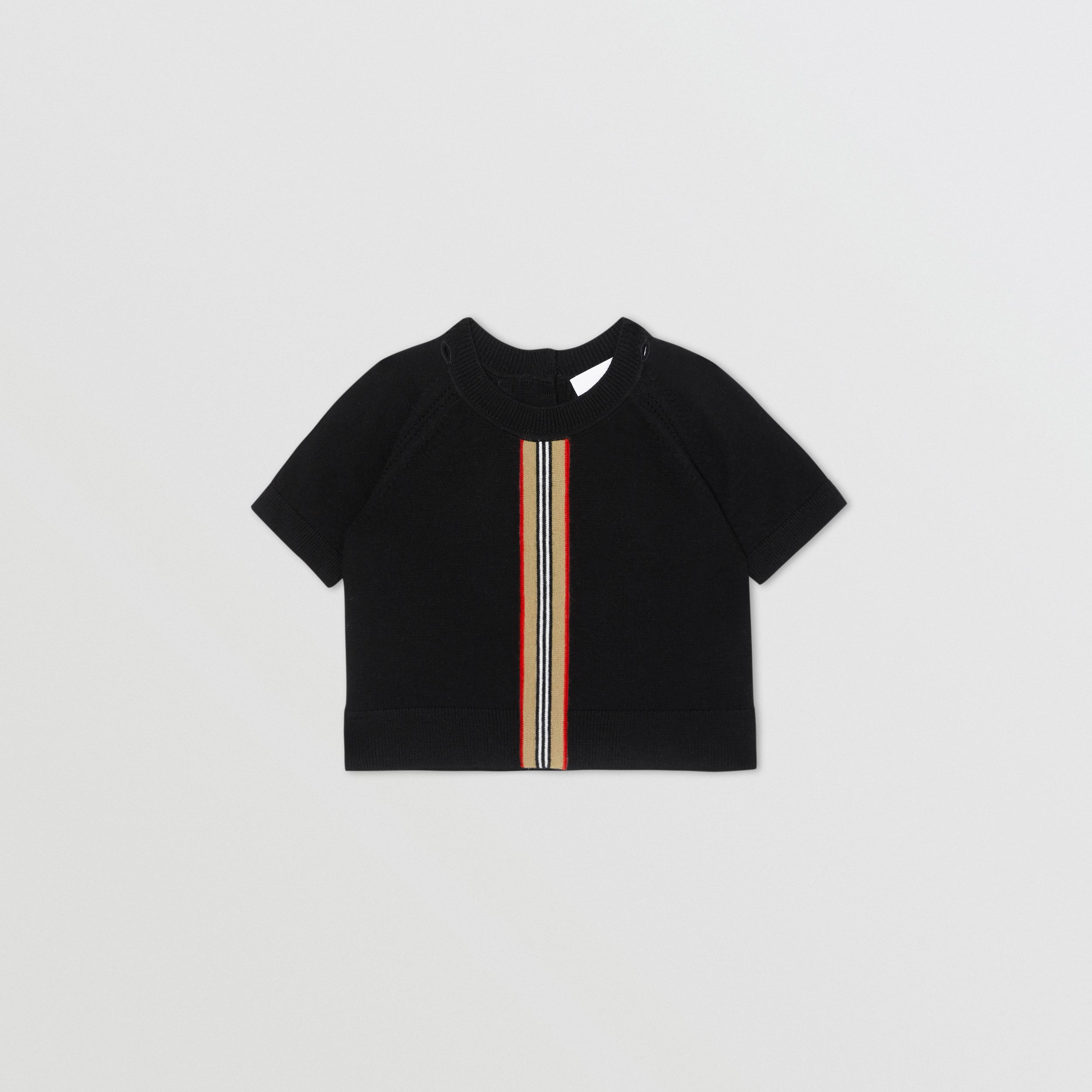 Icon Stripe Trim Merino Wool Two-piece Set - Children | Burberry - 3