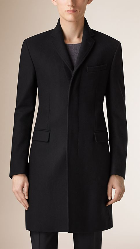 Black Wool Cashmere Topcoat - Image 2