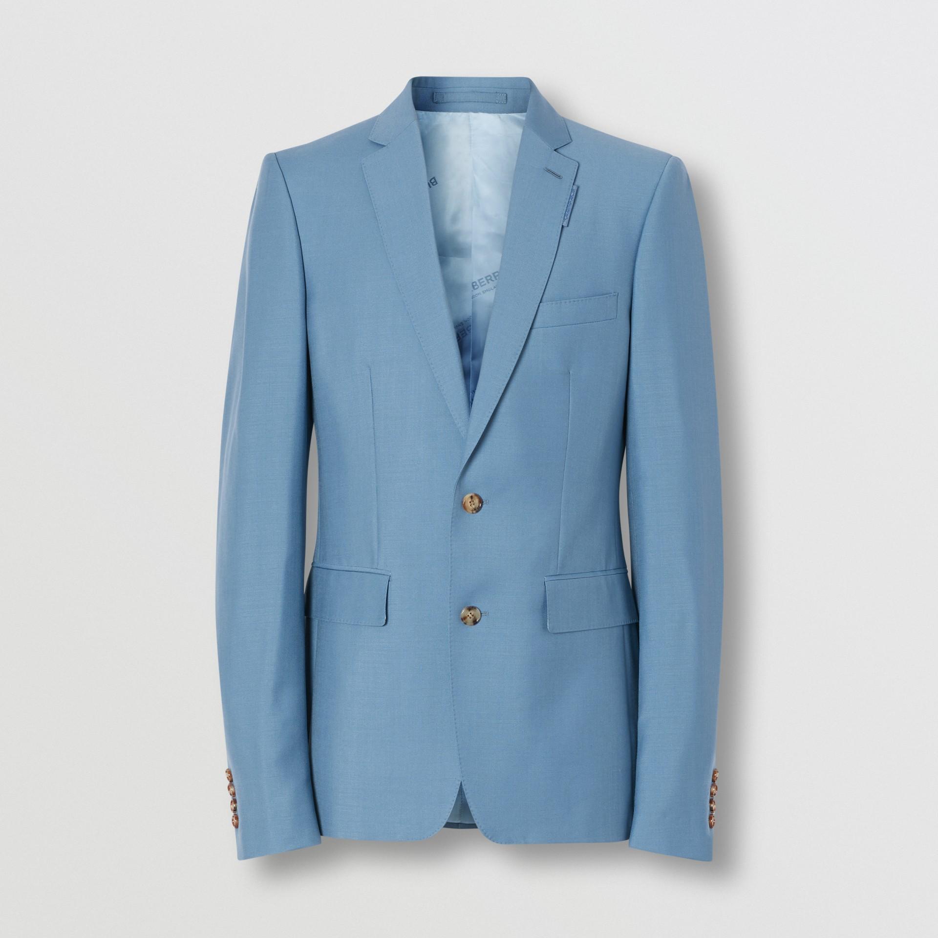 Пиджак в английском стиле из шерсти и мохера (Стальной Синий) - Для мужчин | Burberry - изображение 3