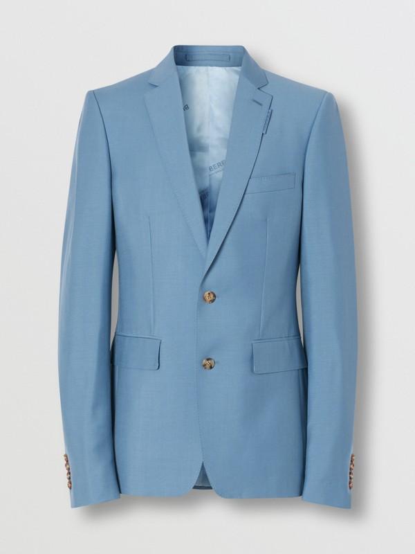 Пиджак в английском стиле из шерсти и мохера (Стальной Синий) - Для мужчин | Burberry - cell image 3