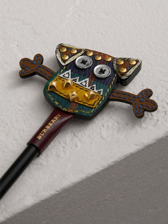 Creature Appliqué Leather Pencil Topper in Multicolour | Burberry - cell image 1