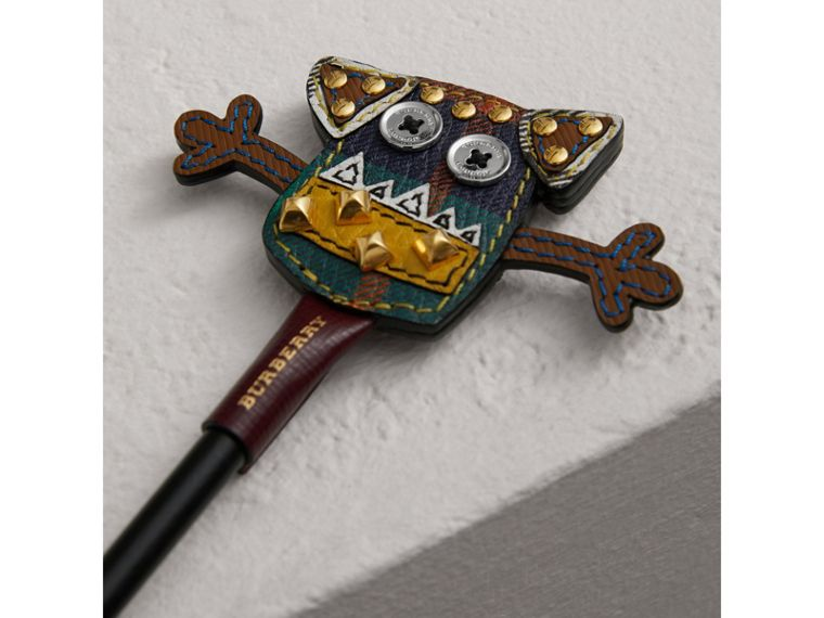 Creature Appliqué Leather Pencil Topper in Multicolour | Burberry Singapore - cell image 1
