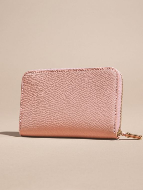 Patent London Leather Ziparound Wallet in Ash Rose - cell image 3