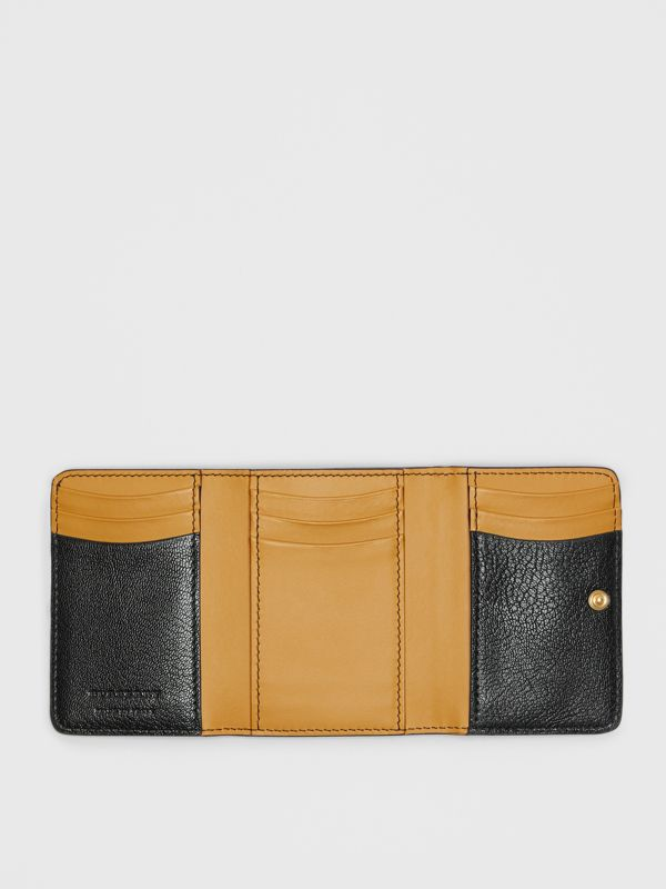 Small D-ring Leather Wallet in Black - Women | Burberry - cell image 2