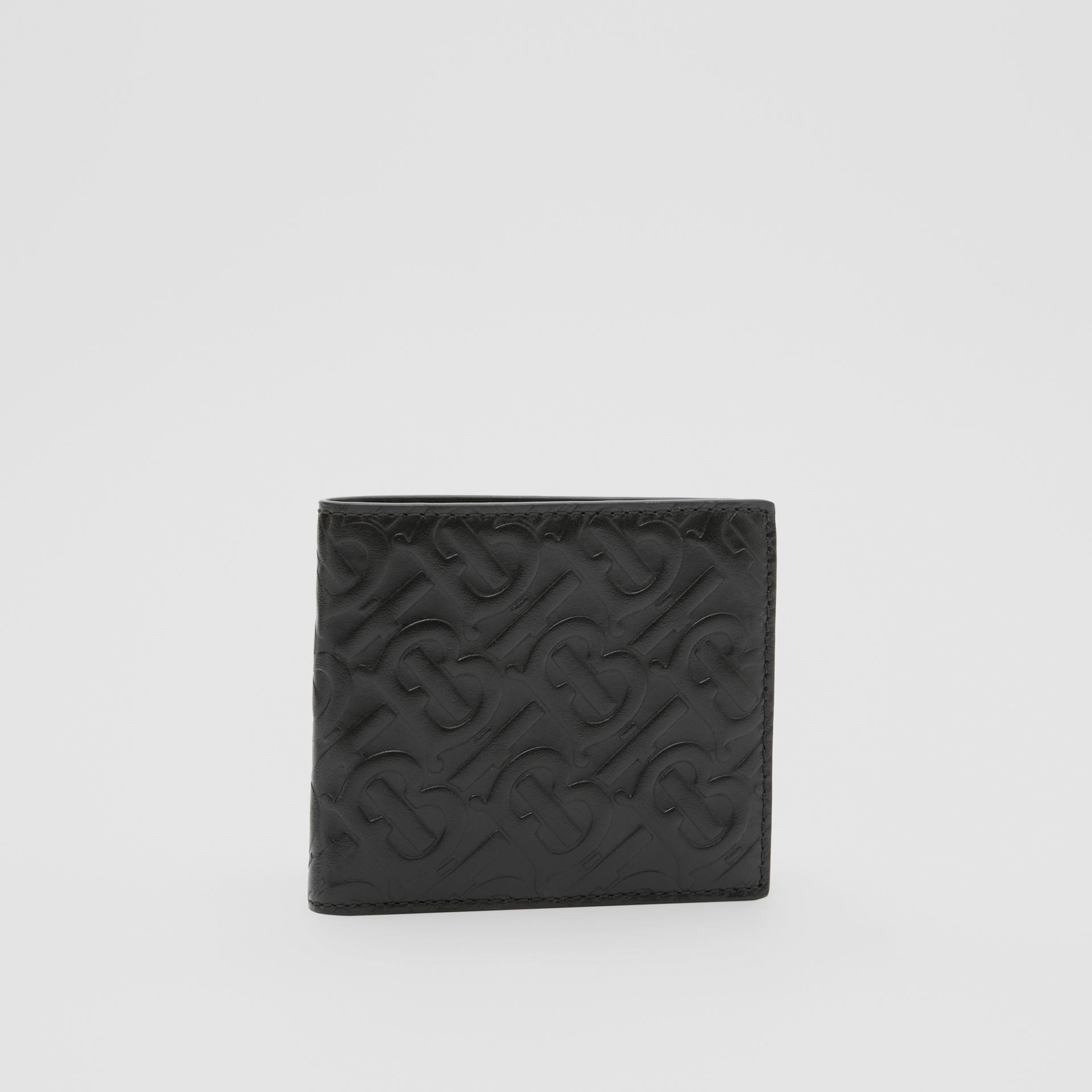 Monogram Leather International Bifold Coin Wallet in Black - Men | Burberry - gallery image 3