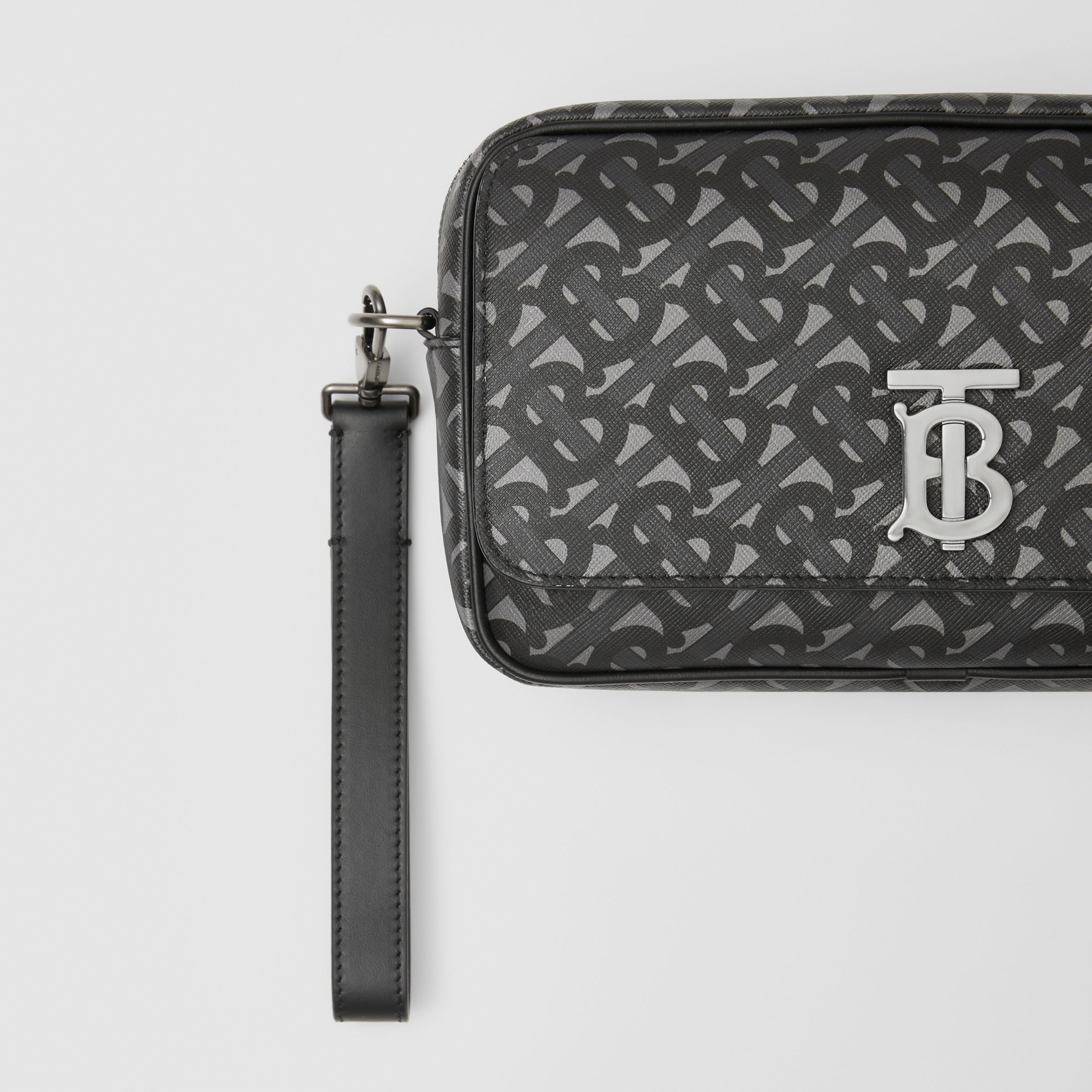 Monogram Print E-canvas Bum Bag in Charcoal/black - Men | Burberry - 2