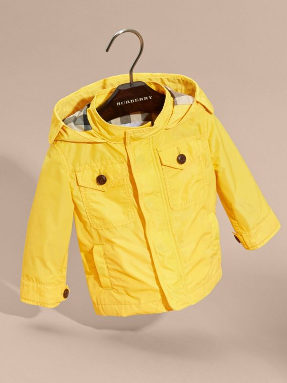 Bright yellow Hooded Technical Jacket Bright Yellow - cell image 2