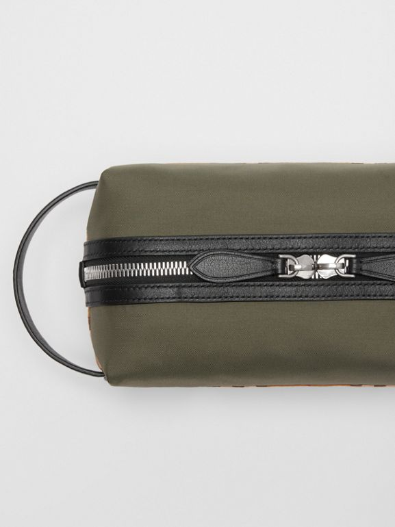 Vintage Check and Colour Block Pouch in Military Green/vintage | Burberry - cell image 1