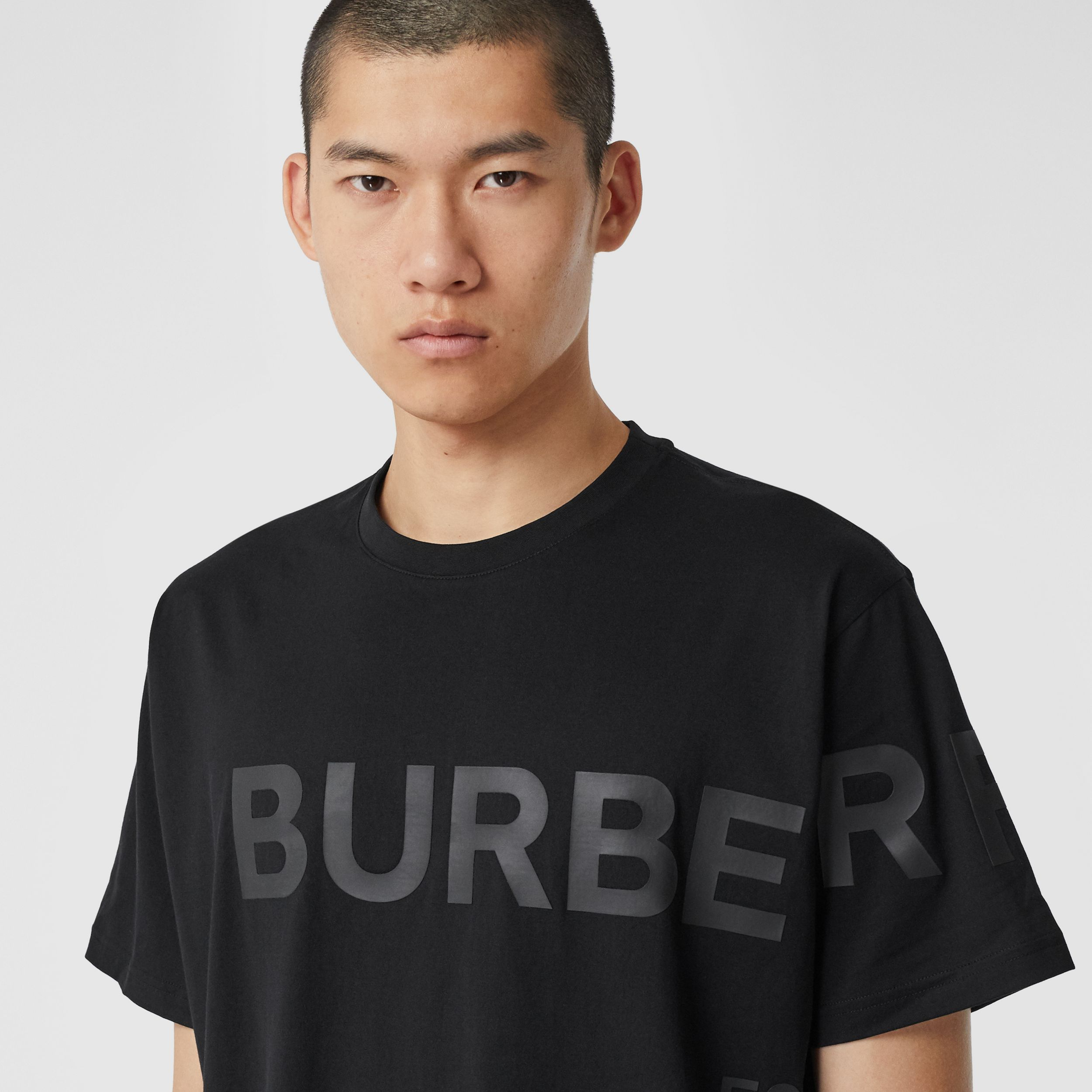 Horseferry Print Cotton Oversized T-shirt - Men | Burberry - 2
