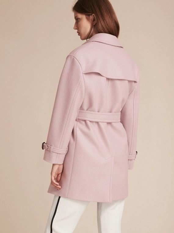 淡紫色 羊毛裹身風衣 - cell image 2
