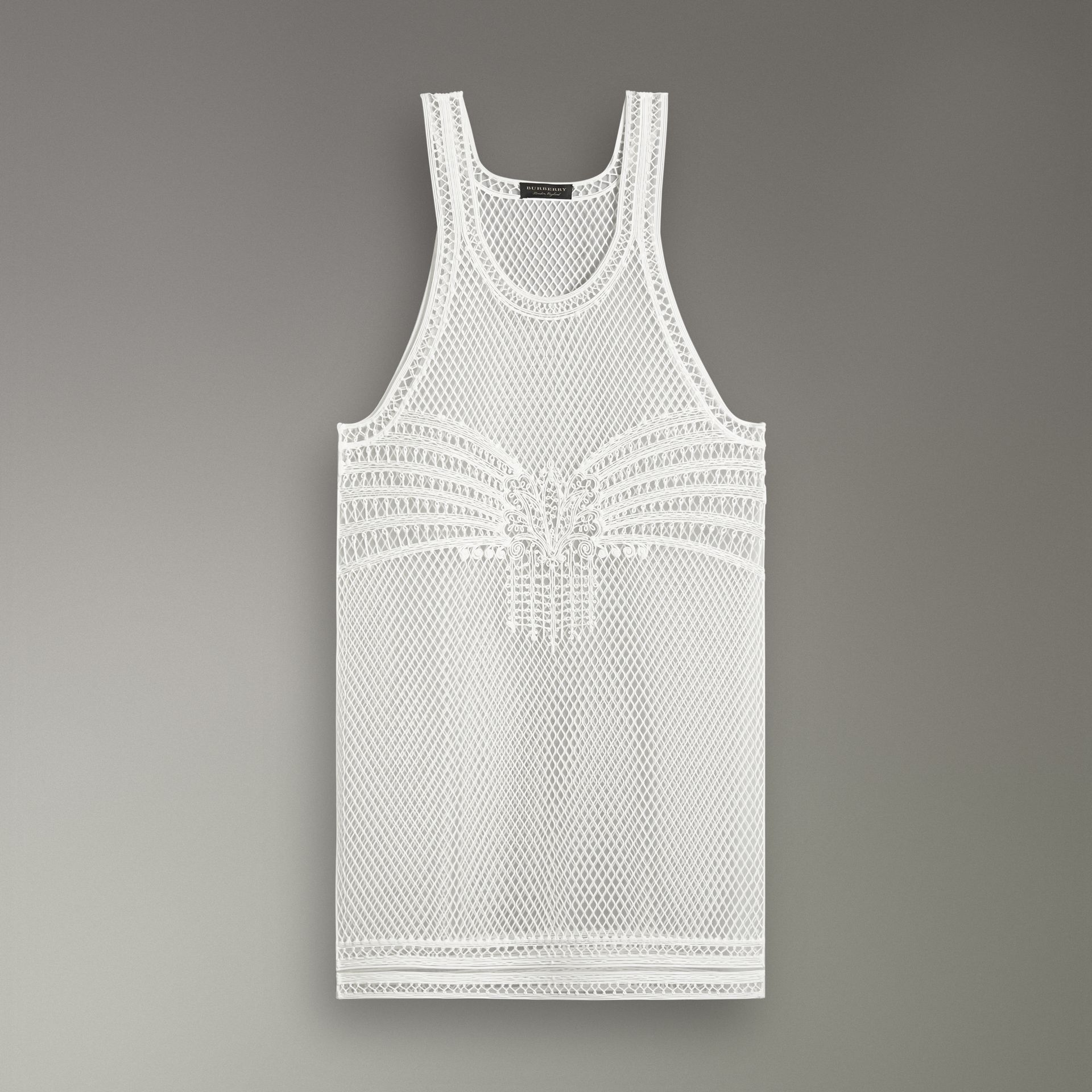 Silicone Lace Vest in White - Women | Burberry United States - gallery image 3