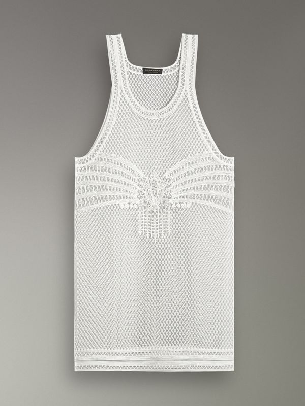 Silicone Lace Vest in White - Women | Burberry - cell image 3