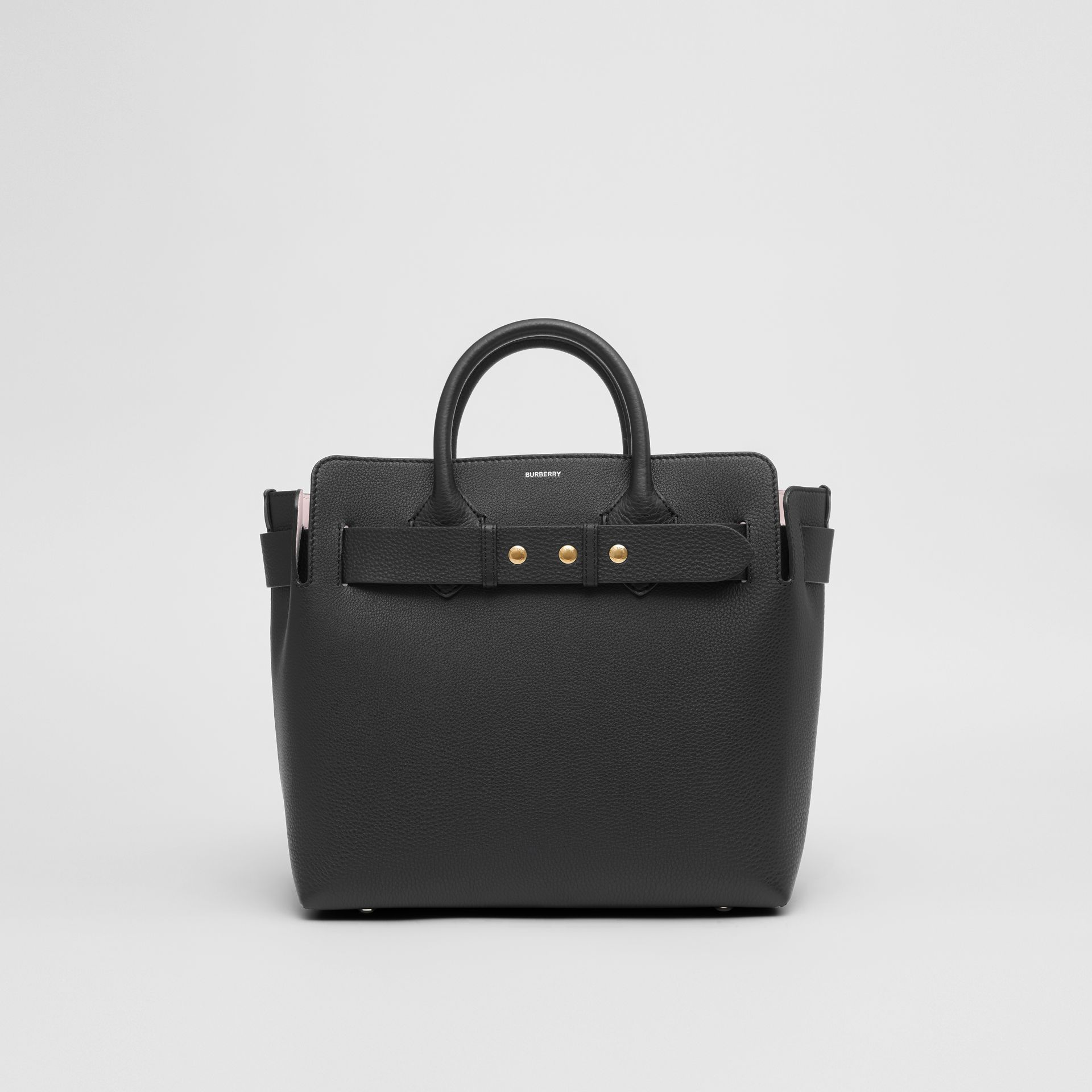 The Medium Leather Triple Stud Belt Bag in Black alabaster Pink - Women  c0eed5db6932b