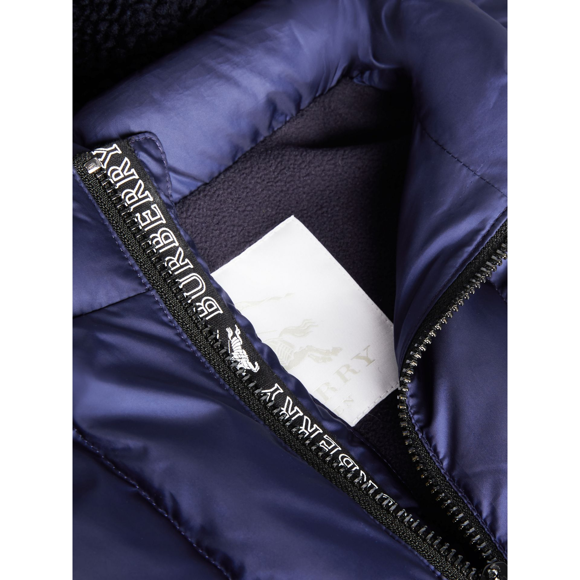 Detachable Hood Down-filled Gilet in Navy - Boy | Burberry Hong Kong - gallery image 1