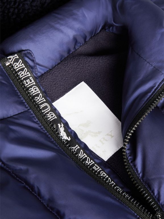 Detachable Hood Down-filled Gilet in Navy - Boy | Burberry - cell image 1