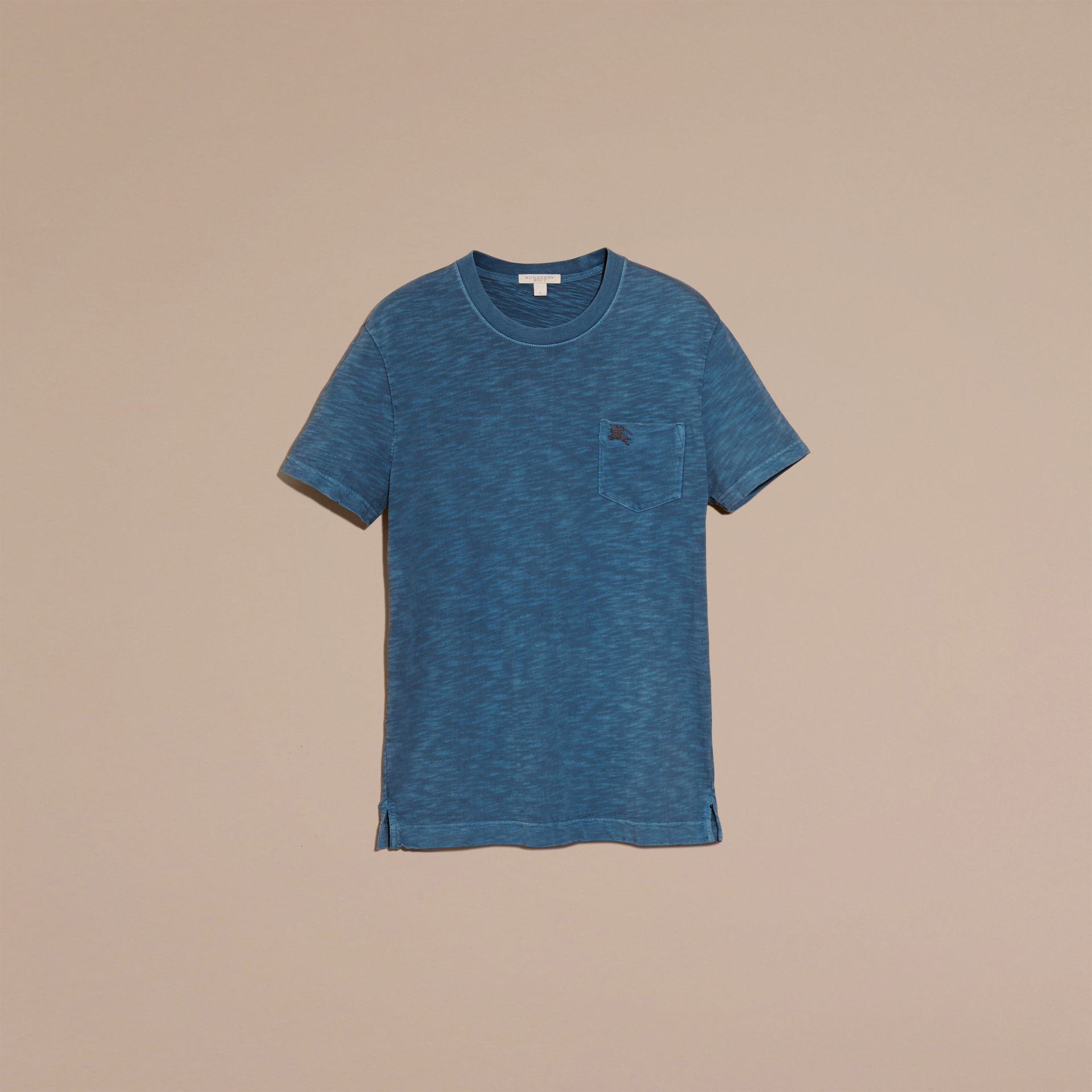 Lupin blue Slub Jersey Double Dyed T-Shirt Lupin Blue - gallery image 4