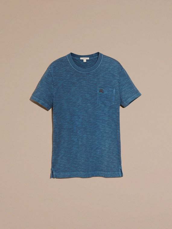 Lupin blue Slub Jersey Double Dyed T-Shirt Lupin Blue - cell image 3
