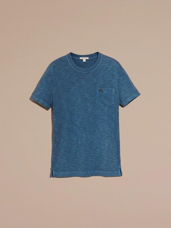 Bleu lupin T-shirt en jersey flammé double teinture Bleu Lupin - cell image 3