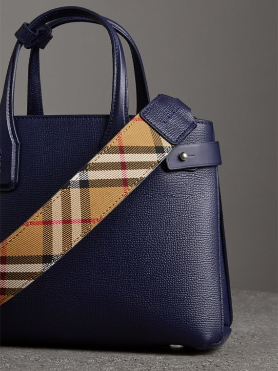 The Small Banner in Leather in Regency Blue - Women | Burberry - cell image 2