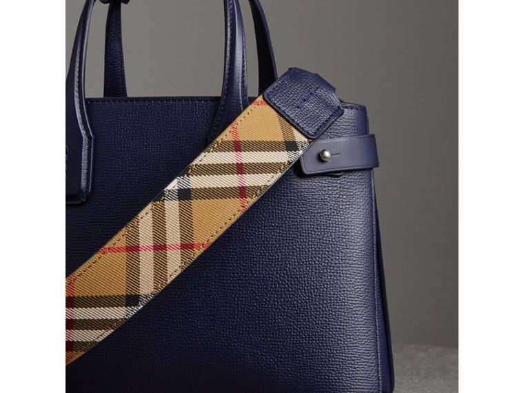 The Small Banner in Leather in Regency Blue - Women | Burberry - cell image 4