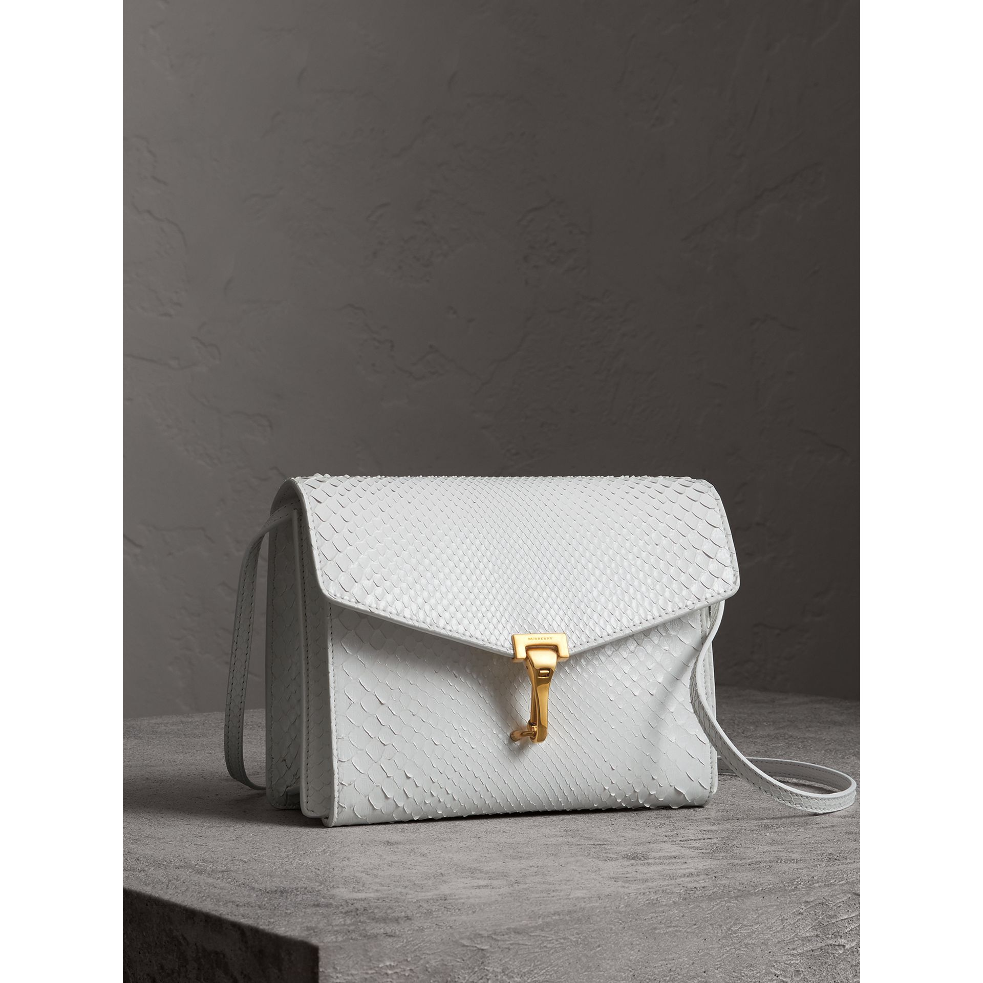 Small Python Crossbody Bag in Chalk White - Women | Burberry - gallery image 7