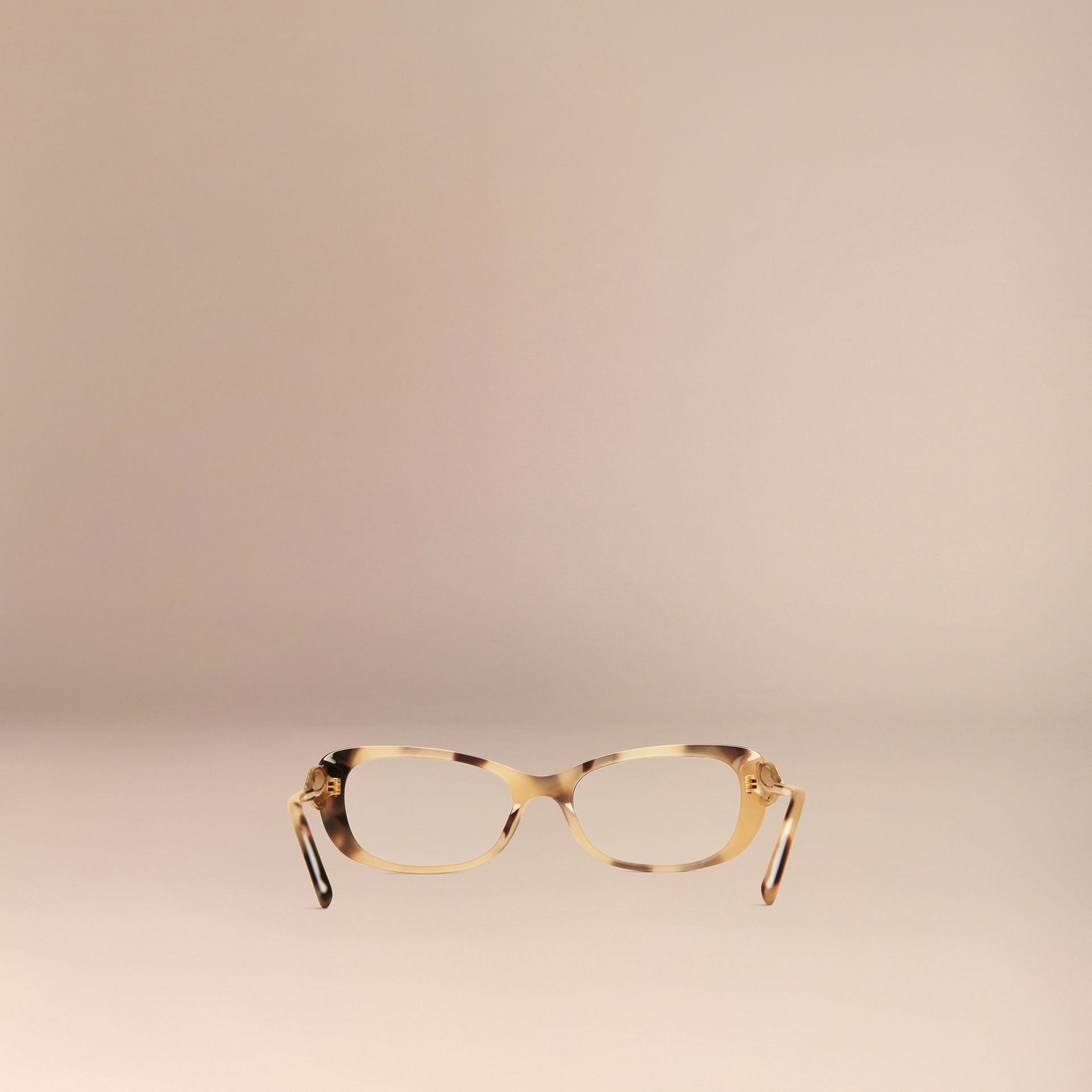 Gabardine Collection Oval Optical Frames Light Horn - gallery image 3
