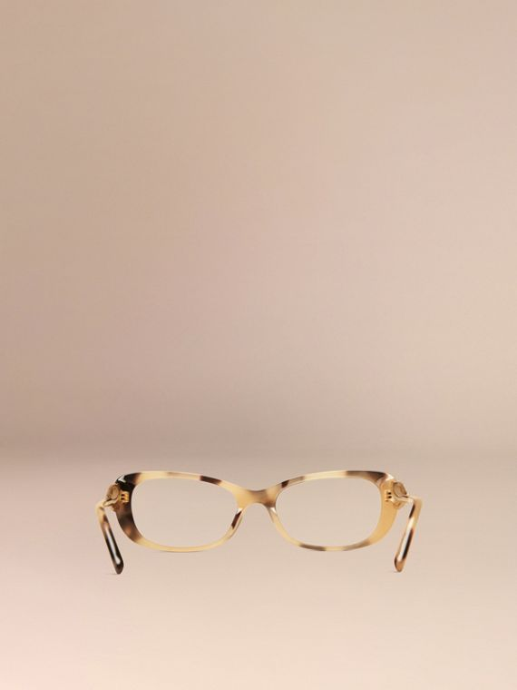 Gabardine Collection Oval Optical Frames Light Horn - cell image 2