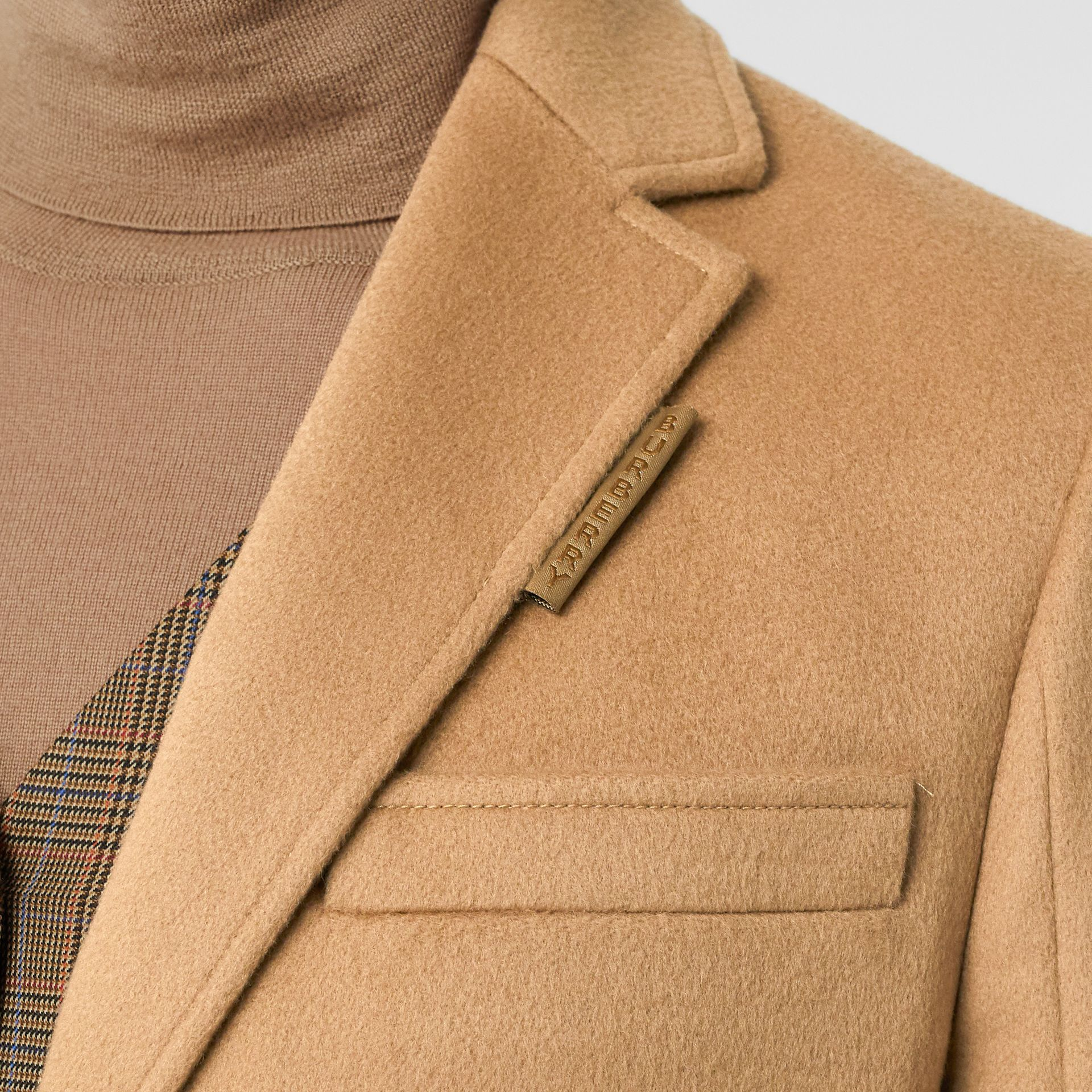Wool Cashmere Tailored Coat in Light Camel - Women | Burberry - gallery image 4