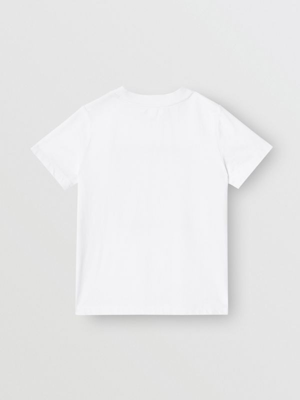 Chandelier Print Cotton T-shirt in White | Burberry - cell image 3
