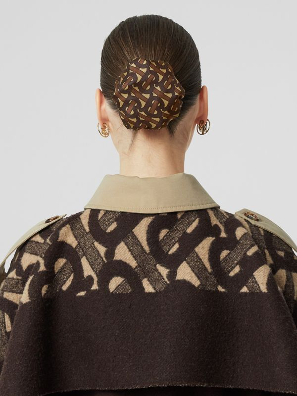 Monogram Print Silk Chignon Cover in Brown - Women | Burberry - cell image 2