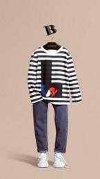 T-shirt à manches longues en coton avec motif Londres