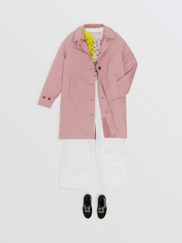 Reversible Tropical Gabardine Car Coat in Chalk Pink | Burberry United States - cell image 2