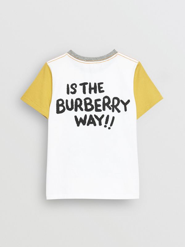 T-shirt en coton à imprimé Cartoon (Blanc) | Burberry Canada - cell image 3