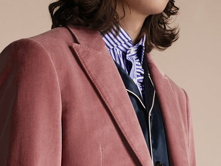 Rose pink Tailored Velvet Jacket - cell image 4