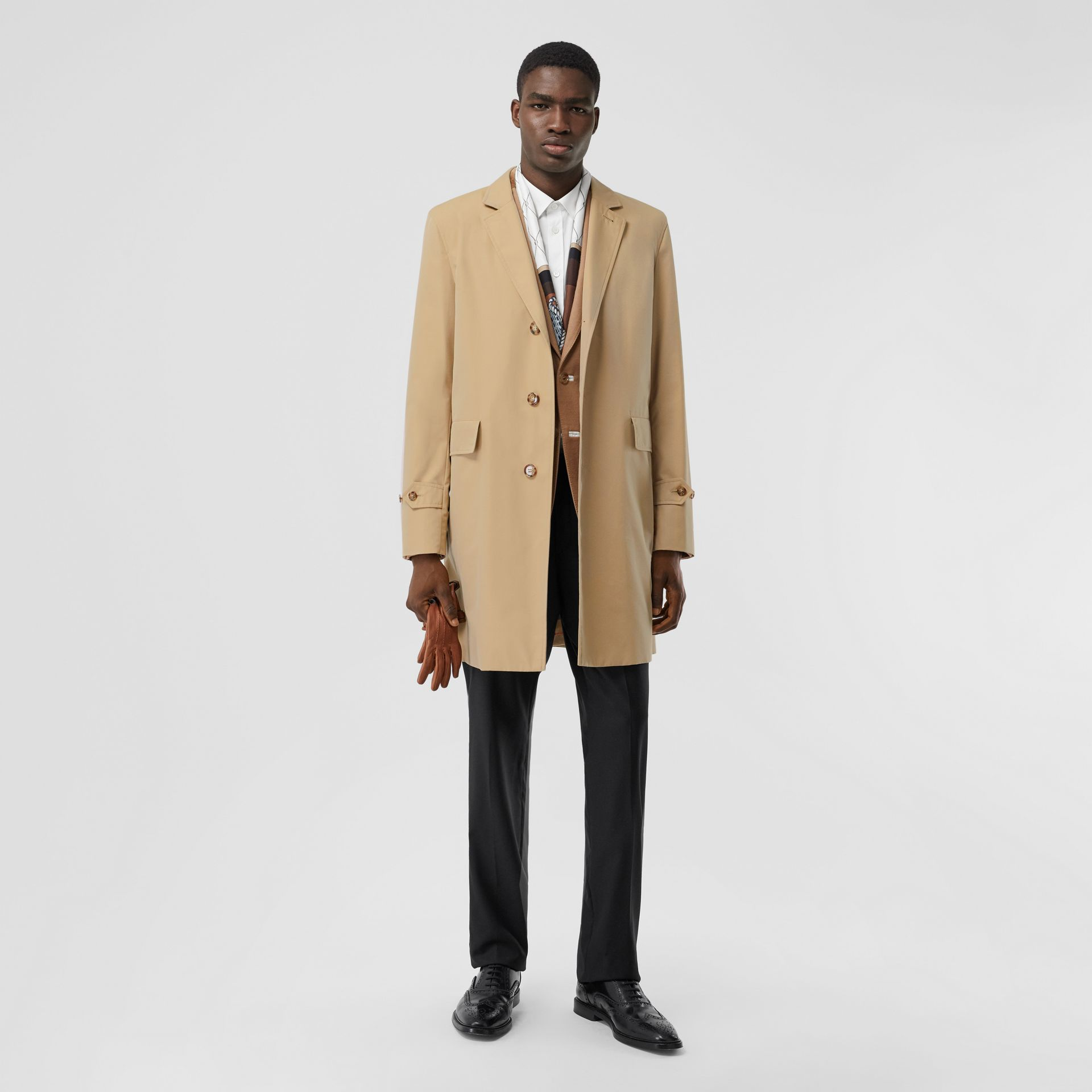 Cotton Gabardine Lab Coat in Honey - Men | Burberry - gallery image 0