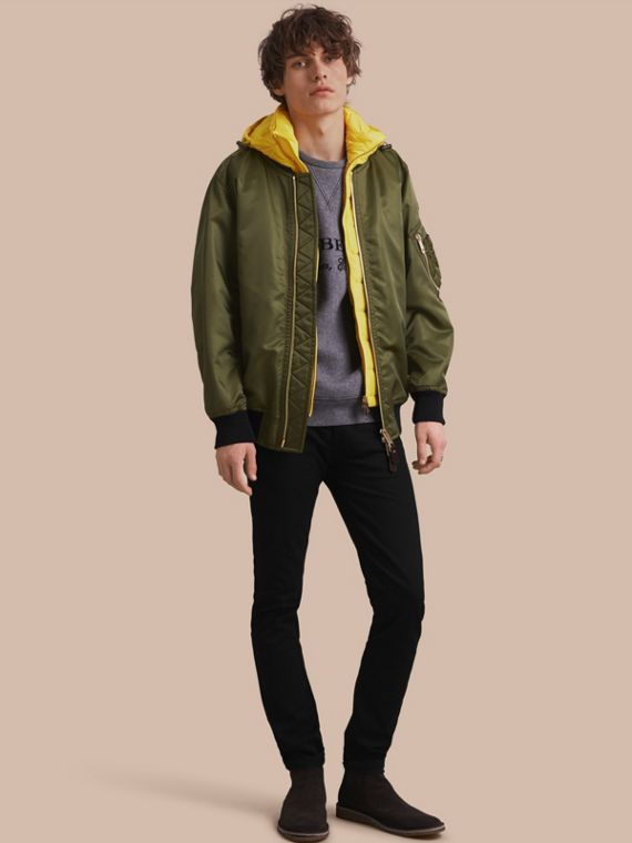 Technical Bomber Jacket with Detachable Warmer