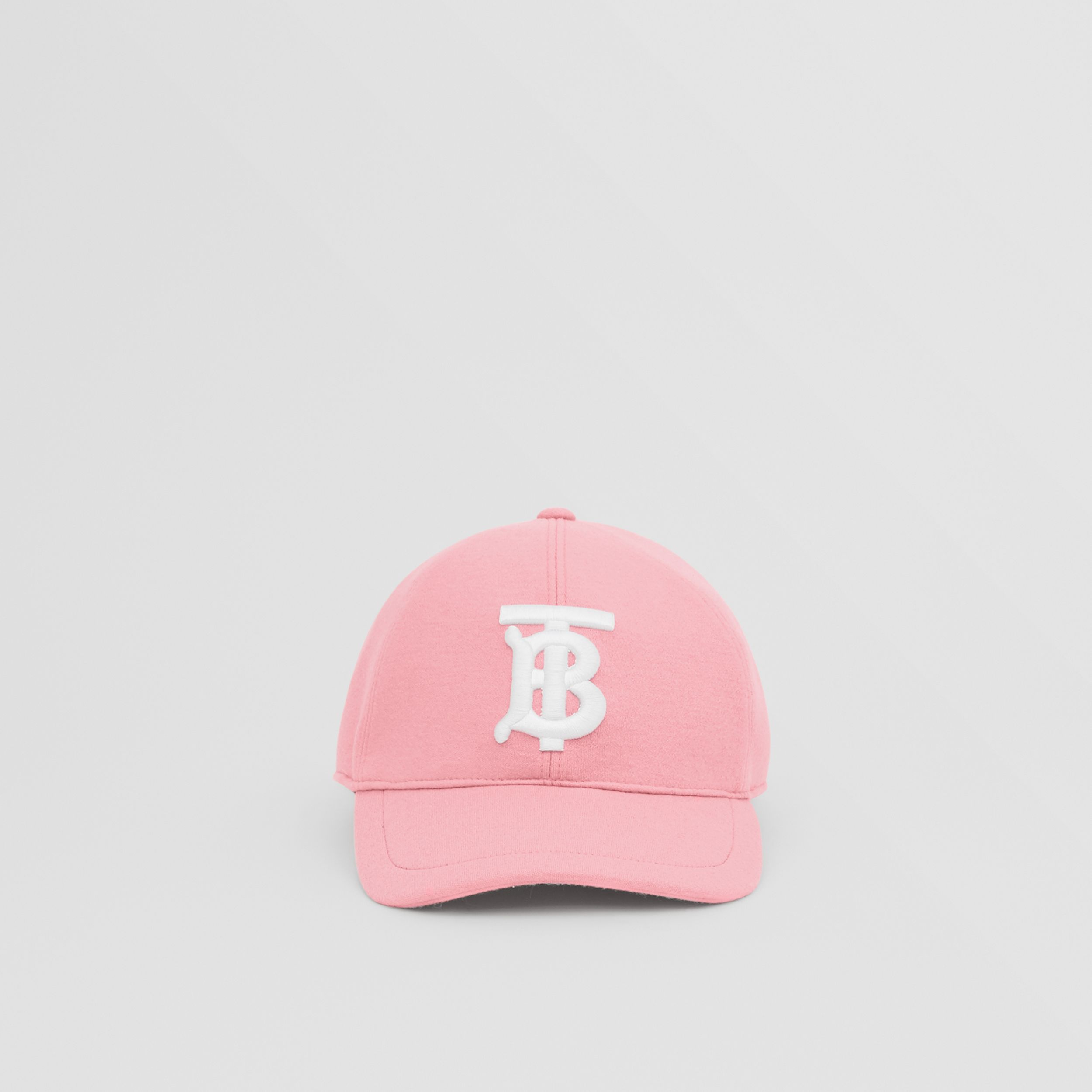 Monogram Motif Jersey Baseball Cap in Pink | Burberry - 1