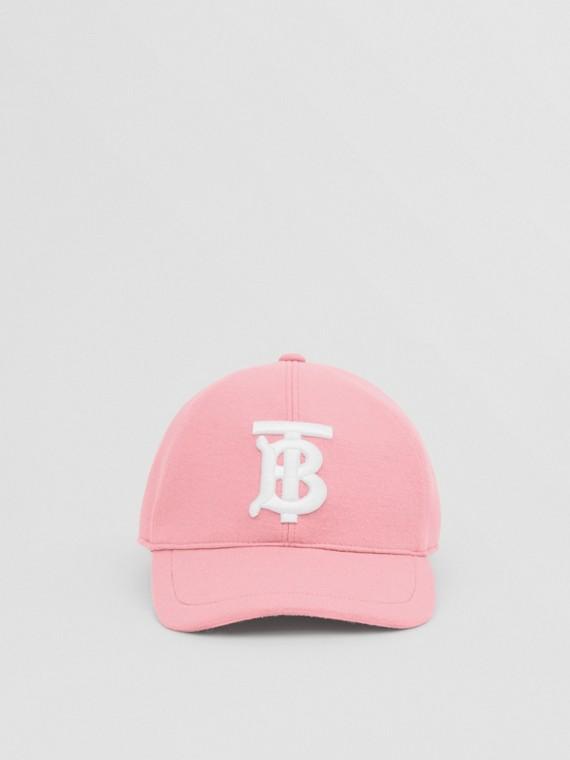 모노그램 모티프 저지 야구 모자 (핑크)