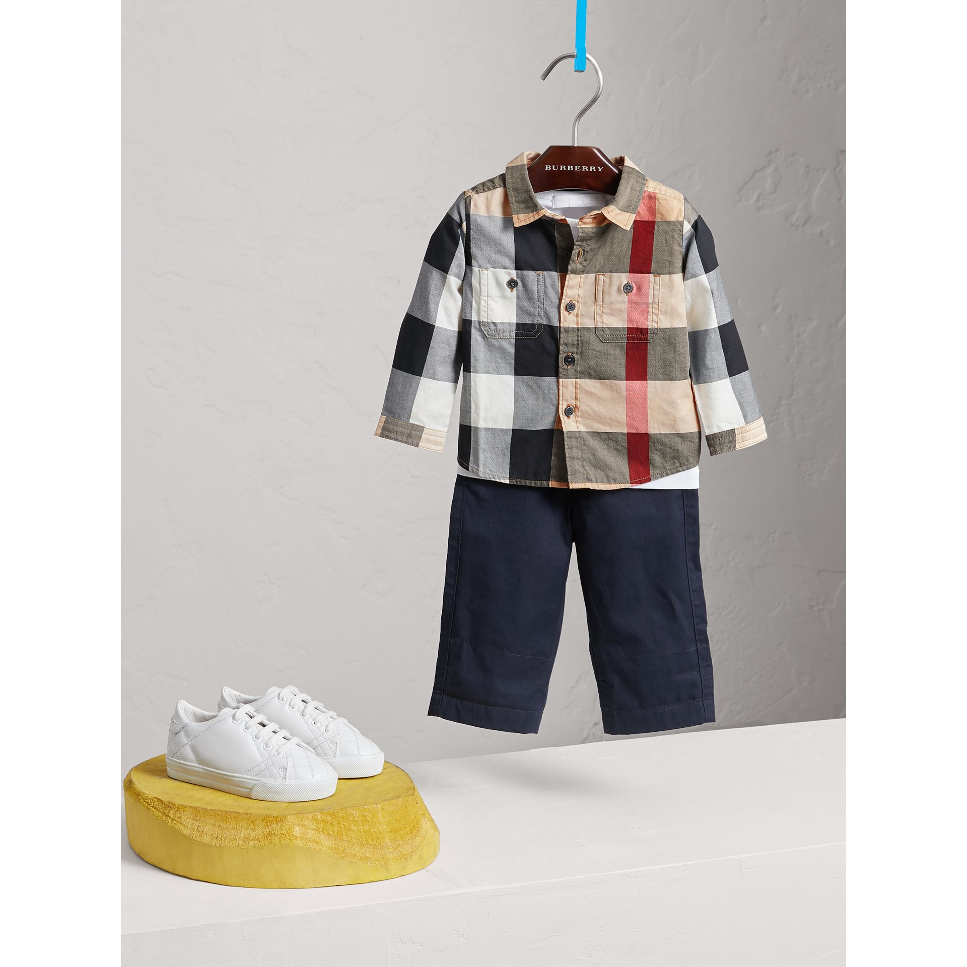 Check Cotton Shirt in New Classic - Boy | Burberry - gallery image 0
