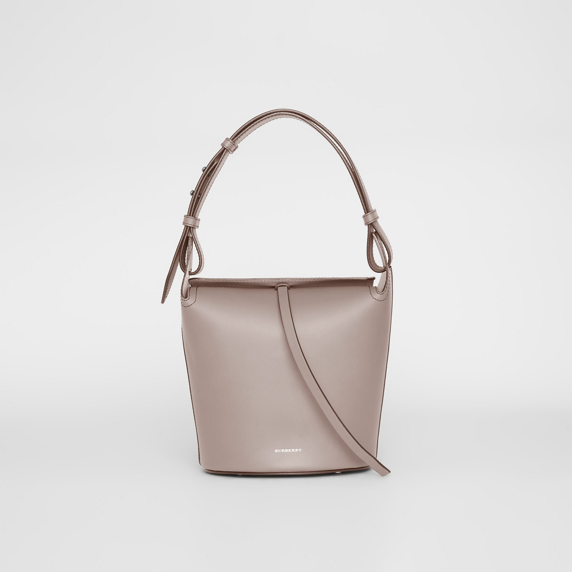 7d7354f94c5f7 The Small Bucket Bag aus Leder (Taupe-braun) - Damen
