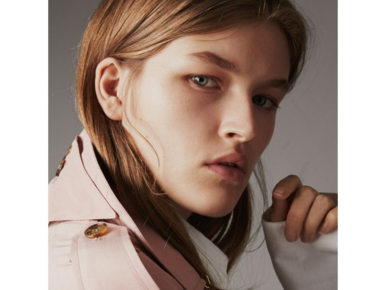 Silk Wrap Trench Jacket in Ash Rose - Women | Burberry - cell image 1