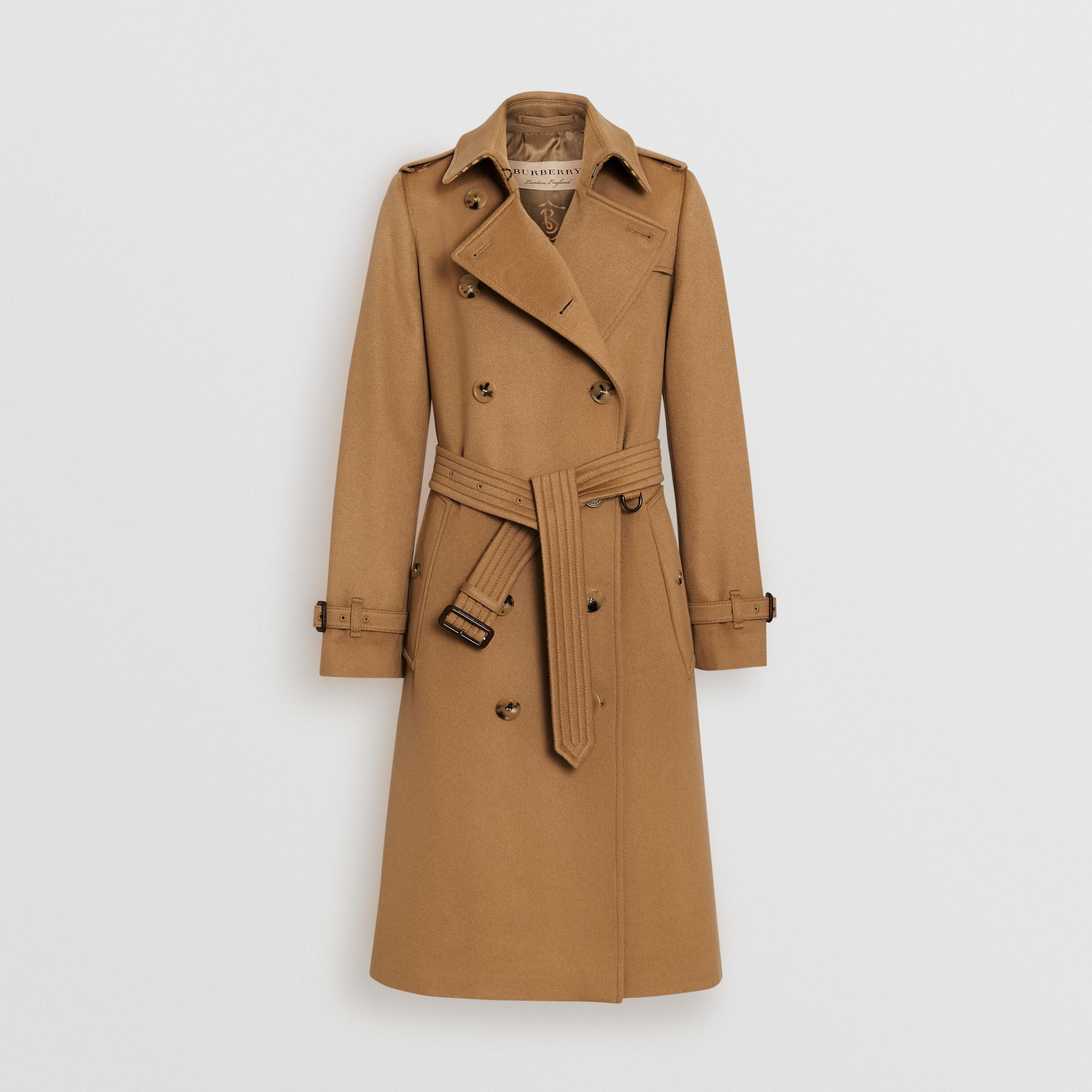 Cashmere Trench Coat in Mid Camel - Women | Burberry Hong Kong - gallery image 3