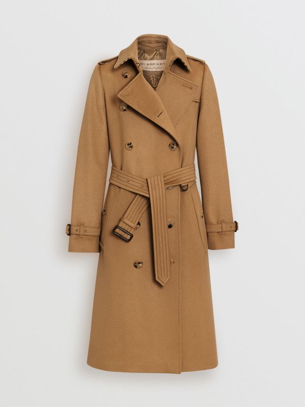 Cashmere Trench Coat in Mid Camel - Women | Burberry - cell image 3
