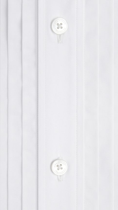 Optic white Cotton Dress Shirt - Image 4
