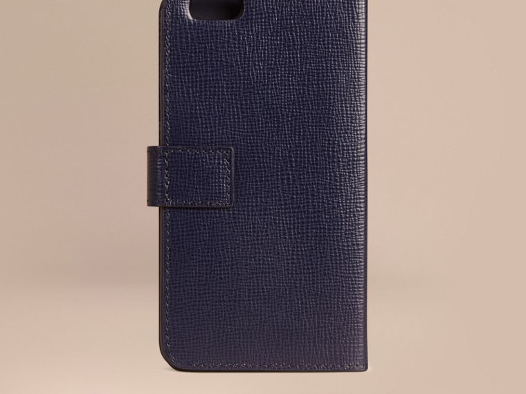 Dark navy London Leather iPhone 6 Flip Case Dark Navy - cell image 2